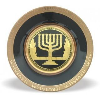 Menorá de cerâmica - Jerusalém de Ouro
