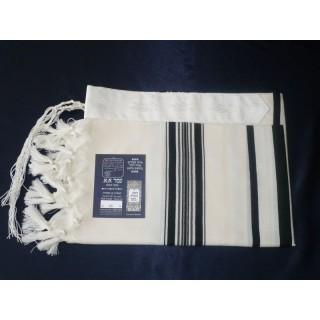 Talit de lã com listras pretas